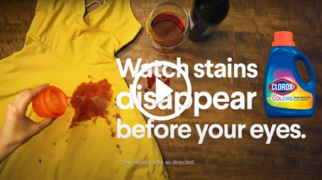 Watch tough stains disappear before your eyes