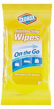 Clorox® Disinfecting Wipes<sub>3</sub> On the Go
