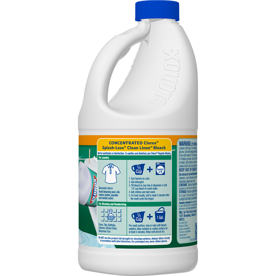 Concentrated Splash Less Bleach Formula Clorox