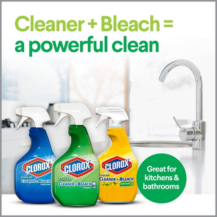 cleaner + bleach = a powerful clean