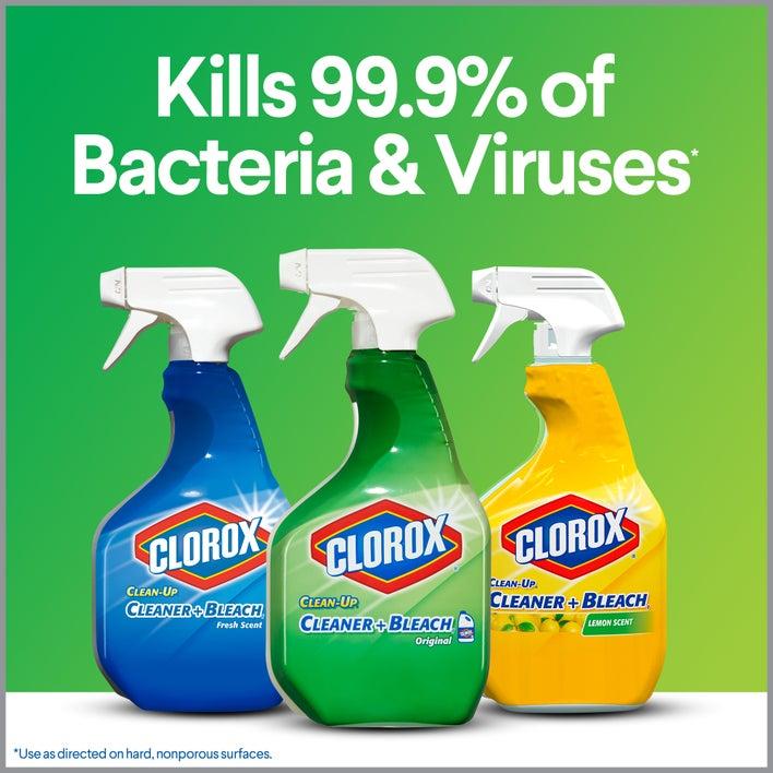 kills 99.9% of bacteria & viruses