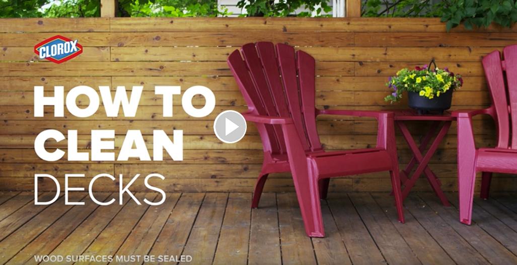 How To Clean Decks Clorox