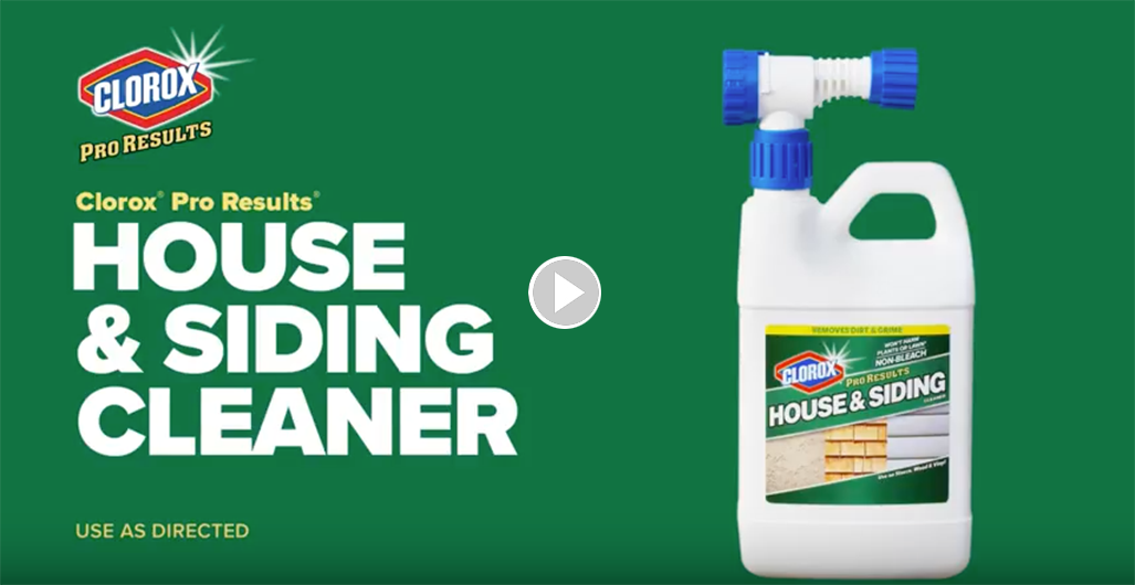 how to clean siding clorox