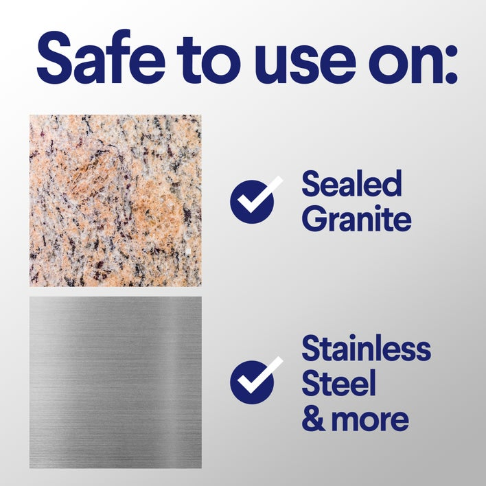 safe to use on sealed granite and stainless steel