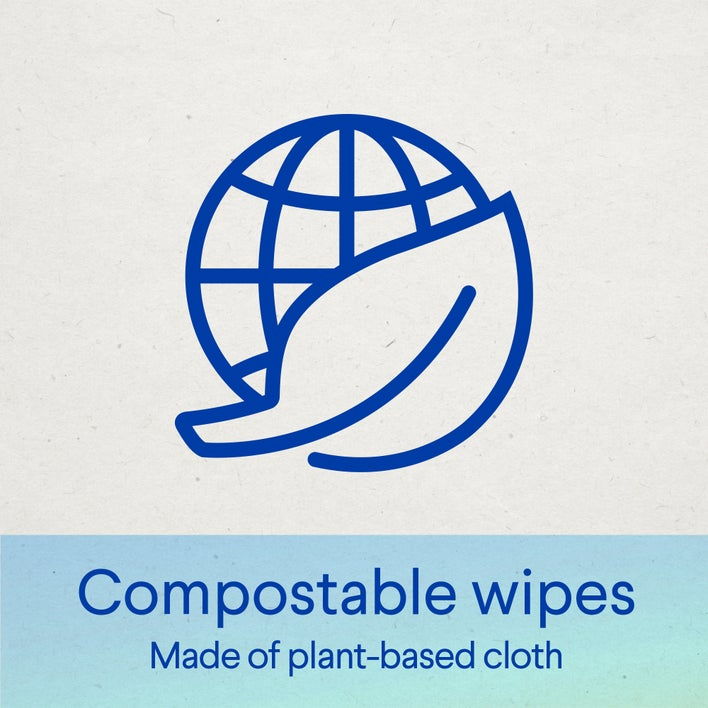 compostable wipes made of plant-based cloth