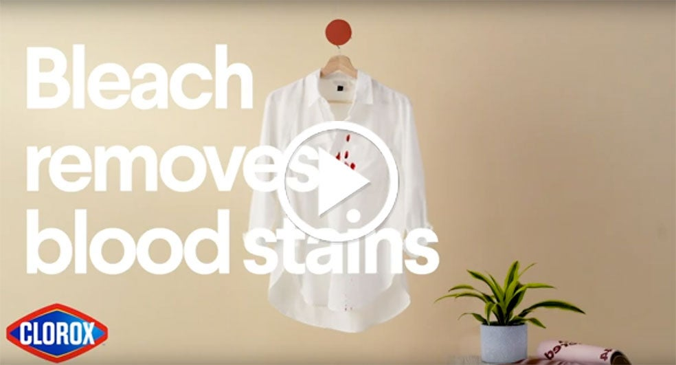 How To Remove Blood Stains Clorox