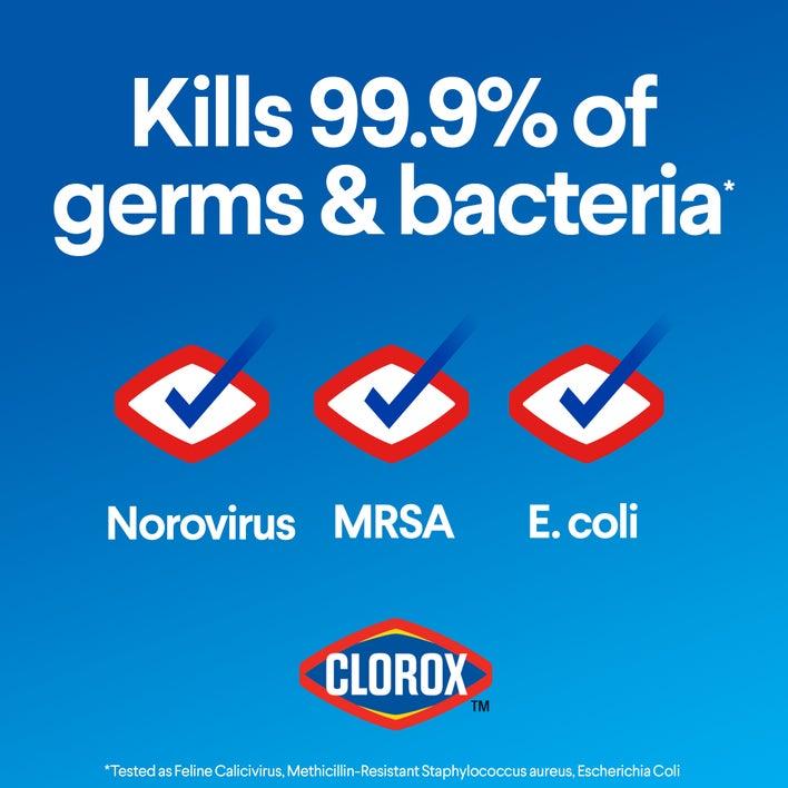 kills 99.9% of germs & bacteria