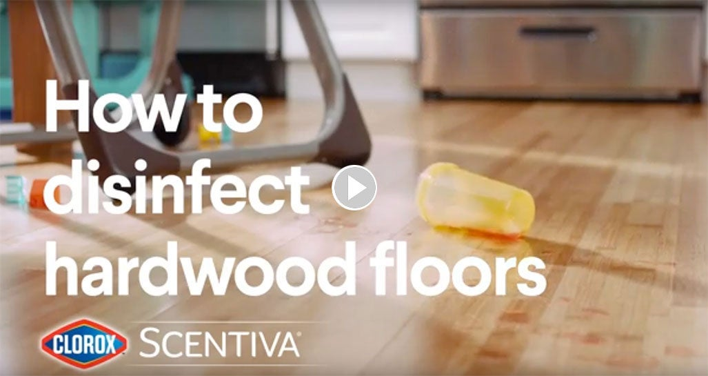 How To Disinfect Hardwood Floors Clorox Scentiva Mopping