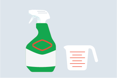Cómo preparar tu propia solución desinfectante con Clorox<sup>®</sup> Clean-Up<sup>®</sup> Cleaner + Bleach