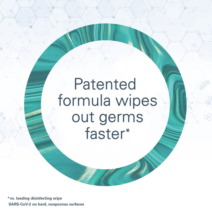 patented formula wipes out germs faster